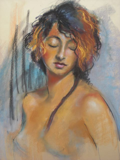 """Maria Lyle, """"Stefani,"""" pastels/conte, marialyle.com"""